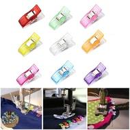 9 ชิ้นกรณีเท้า Multicolor คลิปพลาสติก hemming จักรเย็บผ้าเครื่องมืออุปกรณ์เย็บผ้าเย็บผ้างานฝีมือ DIY เย็บปะติดปะต่อกันจักรเย็บผ้าคลิป