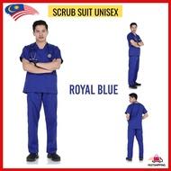 [LOCAL SELLER] Medical Scrub Suit Shirt-Baju Scrub Suit Hospital-Baju Dewan Bedah-Scrub Suit Kecemasan-Scrub Suit Nurse