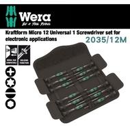 【Wera】德國Wera精密電子起子12支組-精緻帆布包(2035/12M)