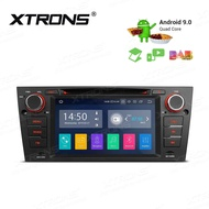 XTRONS Android 9.0 Car Stereo GPS Navigator Auto Radio DVD Player Single 1 DIN Head Unit with 7 Inch Touch Display USB SD Port Full RCA Output Bluetooth 5.0 Supports OBD TPMS DAB 4G WiFi Fit For BMW E90 320i 325i 330i