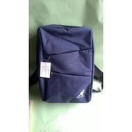 紫庭雜貨* 全新 英國品牌 KANGOL 藍色肩背包 後背包  旅行背包 筆電腦包 大包 大方好用 男女適用