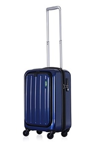 Lojel Lucid Small Upright Spinner Luggage, Navy, One Size