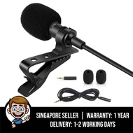 Professional Grade Lavalier Lapel Microphone Omnidirectional Mic with Easy Clip On System Perfect for Recording Youtube / Interview / Video Conference / Podcast / Voice Dictation / iPhone / ASMR