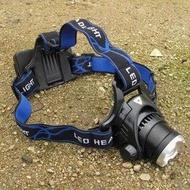 【可分體可調焦T6頭燈-18650電池款-CREE T6 LED-1套/組】LED頭燈單車騎行夜間釣魚 1節或2節18650鋰電池(不含電池,充電器)-76012