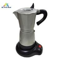 ABH เครื่องชงกาแฟไฟฟ้า 300 มล.เครื่องทำกาแฟอลูมิเนียมหม้อ Moka เครื่องทำกาแฟมอคค่า