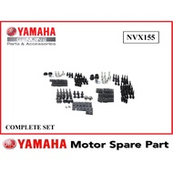 YAMAHA NVX155 COMPLETE SET SCREW COVERSET COVER SET BODY SET HANDLE LEGSHIELD LEG SHIELD SCREW SET NVX 155 NVX-155 AEROX