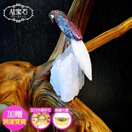 【A1寶石】頂級彩色水晶鳥-白水晶簇/同聚寶盆發財樹水晶洞功效(送五行碎石晶鑽元寶)