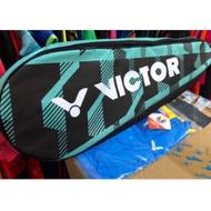 (羽球世家) 勝利Victor 羽球拍 專用 三支裝拍袋  黑綠