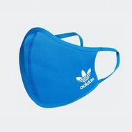 adidas 口罩 三入裝 男/女 非醫療 彈力繞耳設計 藍色  H32391