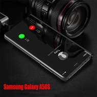Samsung Galaxy A50S Case Electroplate Mirror Phone Case Samsung Galaxy A50S A 50S Case Flip Back Cover Stand Casing