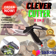Clever Vegetable Meat Scissors Cutter 2 in 1 Cutter Stainless Steel Smart Kitchen Vegetable Scissor Shear Slicer Kitchen Knife THE CLEVER CUTTER CLEVER CUTTER KNIFE CLEVER CUTTER SCISSOR CLEVER CUTTER FOR FOOD SAMGYUPSAL CLEVER CUTTER STAINLESS CLEVER CUT