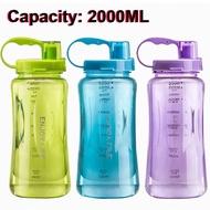 Siap Kirim Botol Minum 2 Liter Botol Minum Besar Jumbo Water Bottle Straw Bottle SALE!!!