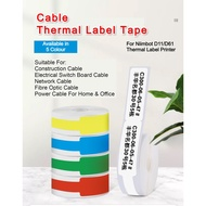 Niimbot D11/D61 Thermal Label Printer Cable Tag Label Tape Roll Consumables Label PaperCables