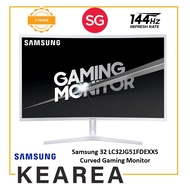 Samsung 32 LC32JG51FDEXXS Curved Gaming Monitor with 144Hz Refresh Rate (3 year onsite warranty)