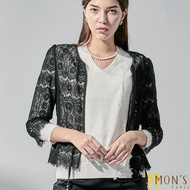 【MON'S】短版優雅蕾絲外套