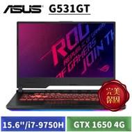 """[送ROG 證件套+USB便攜風扇] ASUS G531GT-G-0031C9750H (15.6"""" 薄邊框/i7-9750H/8G/1T+256G SSD/GTX 1650 4G獨顯/W10)"""