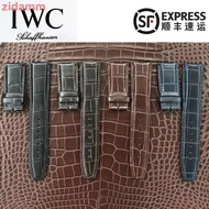 Quality Watch With Iwc Universal Crocodile Leather Strap