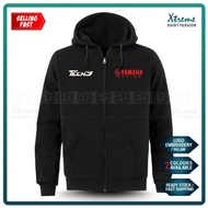 Zip Hoodie Tech3 Yamaha Racing Team Sulam KTM MotoGP Motorcycle Motosikal Superbike Bike Casual Y125Z LC135 Y15 RXZ TZM
