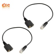 🌟STOCK NOW 🌟2x RJ9 To 2 Port 3.5mm Cable for Telephone Headset to CISCO