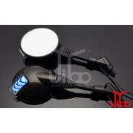 【吉燿部屋】JY002-M-Carbon藍光 機車 LED序列式 跑馬燈 流水燈 後照鏡 方向燈 定位燈(光陽 三陽 山葉 G6 T2 野狼 )