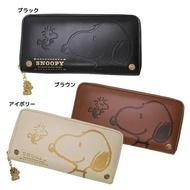 【優日購‧日本】正版 SNOOPY 史奴比 史努比 皮革 長夾 押花 錢包 ( 3色非牛皮 信用卡 零錢拉鍊