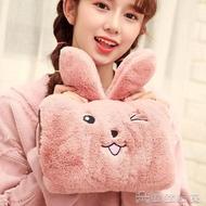 熱水袋 萌萌可愛表情兔暖寶寶防爆充電熱水袋充電暖手寶注水暖宮電暖袋 交換禮物