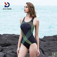 泳衣 泳衣女士運動訓練成人競技連身學生顯瘦泳裝女保守遮肚 3色-M-XXL