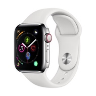 Apple Watch Series 4 GPSCellular 40mm, Stainless Steel Case, White Sport Band