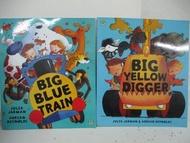 【書寶二手書T2/少年童書_DYL】Big Blue Train_Big Yellow Digger_2本合售
