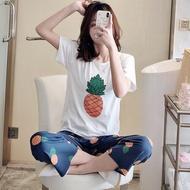Pijamas Women's Pajamas with Pajamas for Women Summer Sleepwear Home Clothing Women's Pajamas Set Home Suit Pyjama
