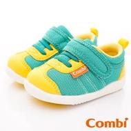 日本Combi童鞋 時尚紐約幼兒機能休閒鞋-閃酷綠(加贈鞋墊)寶寶段12.5~16.5cm