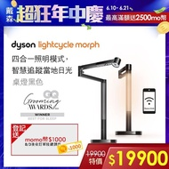 【1/11-24 滿額送萬元精品】dyson 戴森 LightCycle Morph 桌燈 檯燈(黑色)