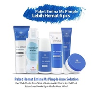 Paket Lengkap Skincare Emina Ms Pimple Murah 6 Pcs - 6 In 1