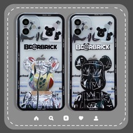 🔥Simple Cute iPhone Case iPhone 12 Case Cartoon Bearbrick Phone Case 11 Pro Max 7 8 Plus X XR XS Max Street Style Gloomy Bear Phone Cover Transparent Camera Shockproof Protective Soft Clear Casing