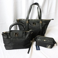 KANGOL LOGO BAG 黑金 鐵牌 黑標 袋鼠包 托特包 肩背包 手拿包 化妝包 側背包 尼龍材質 DOT聚點