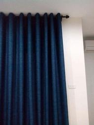 ผ้าม่านสำเร็จรูปกันแสงUV แบบตาไก่เจาะห่วง ผ้าหน้าต่างประตู สีเทาเข้ม สีครีม สีน้ำตาล ขนาด 130*150,130*20/130*250/200*150/200*220/200*250/280*220