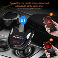 2 USB Bluetooth High Quality 5.0 Car Charger Handsfree Audio MP3 Player FM Transmitter