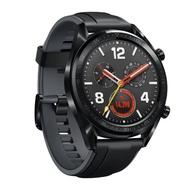 【HUAWEI 華為】Watch GT GPS運動智慧手錶 曜石黑矽膠錶帶(送原廠Mini輕巧藍牙音箱)