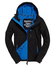 Superdry Jacket HM Hooded Windtrek - Sizes : M, Colors : Black - Blue - intl