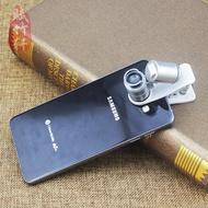 60倍通用手機夾放大鏡 微型顯微鏡帶LED驗鈔燈 鑒定古玩字畫布料1入