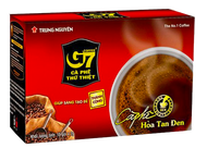 進口越南【G7】黑咖啡 中原速溶純黑咖啡粉2克15包/盒 特濃無蔗糖
