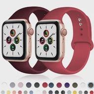 สำหรับ Apple Watch Band 44Mm 40Mm Series 6 SE 5 4 3 IWatch BAND 42Mm 38Mm กีฬาซิลิโคนเข็มขัดสร้อยข้อมือ Apple Watch สายคล้อง