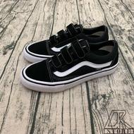 免運🚗-DTK-實體店面🎖Vans Old Skool 黑白 基本款魔鬼氈 滑板鞋 麂皮 帆布鞋 黑底白線 vans基本款 百搭 男女款 情侶鞋