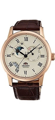 (Orient) Orient Men s FET0T001W0 Sun and Moon Analog Display Japanese Automatic Brown Watch-FET0T...