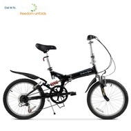 Bike Mall Dahon 20-inch 6-speed Folding Mountain Bike with Double Shock Absorption and Variable Speed Adult Male Female Student Bicycle in Stock