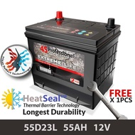 [Free Installation Kit] 55D23L (55AH) 4S Professional Extreme-Life MF Maintenance Free Car Battery (24 months Warranty) equal to Amaron Go /GP MF Gold / Varta Silver /Century Gold
