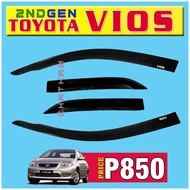 Window Visor Rain Guard for Toyota Vios 2008 2009 2010 2011 2012 (2nd Gen) Also Available Dashboard Mudguard Crossbar 2din Panel Combo Headlight Tail Light Side Mirror Cover