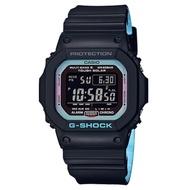 G-SHOCK季節流行主題霓虹藍色調設計休閒電波錶(GW-M5610PC-1)43.2mm