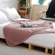 The blanket℗Small blanket quilt air conditioning office nap single person sofa cover leg knee Nordic ins the end of bed