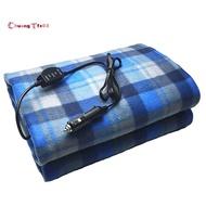 格子電動車毯子-帶96英寸軟線的12V加熱毯子,適用於任何汽車SUV香煙打火機,辦公室,尾巴,應急套件,野營